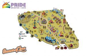 Pride festival map