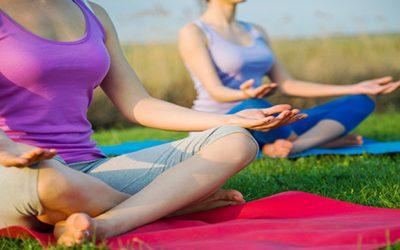 Ocean Bay Yoga classes at Pop Up Brighton campsite