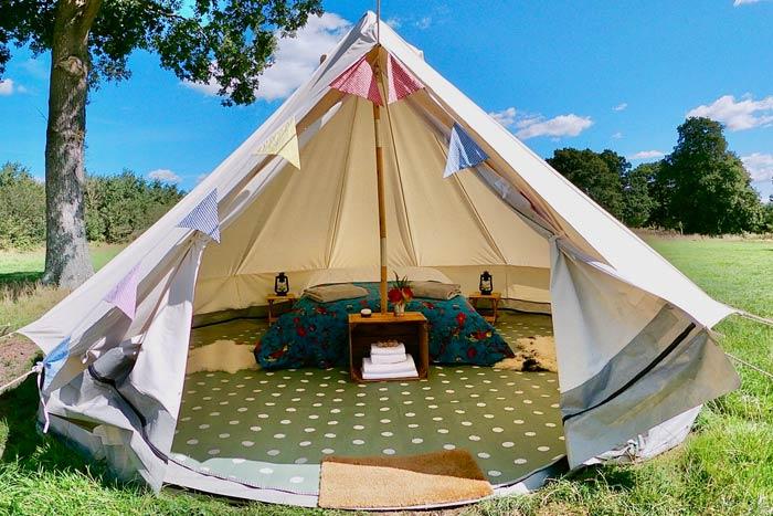 hire bell tent somerset campsite