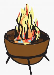 camping firepit and wood hire
