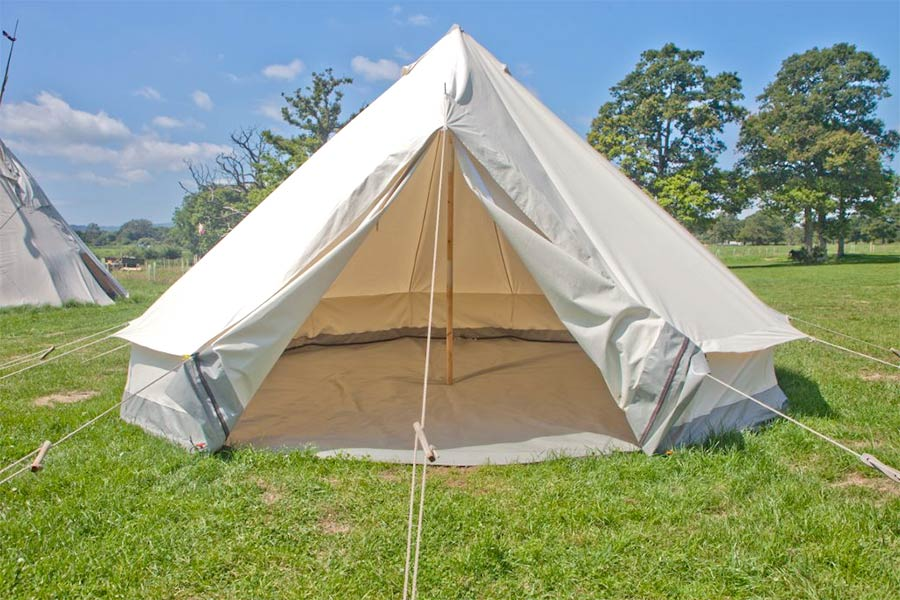 empty bell tent hire