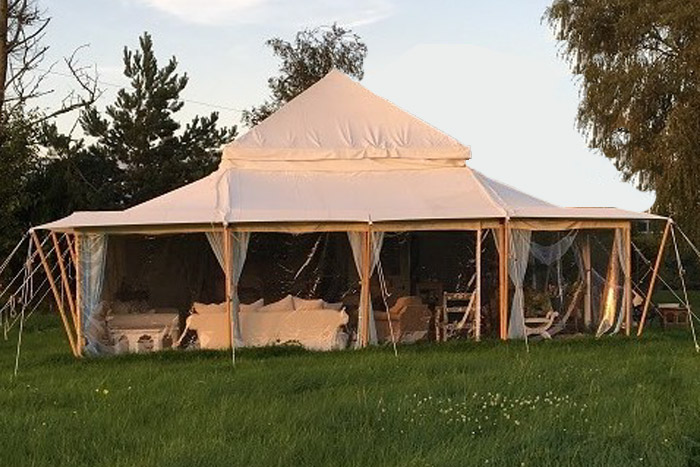 the lodge large glamping tent
